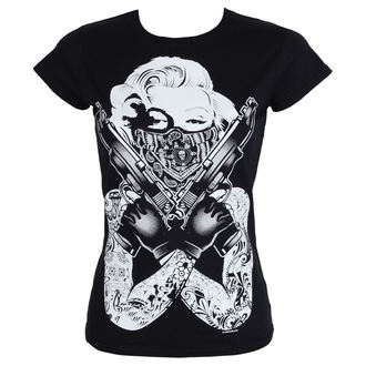 tričko dámské Marilyn Monroe - Pose Girly - Black - HYBRIS