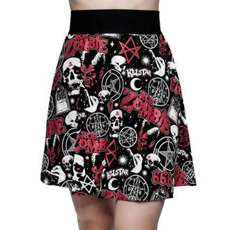 sukně dámská KILLSTAR - ROB ZOMBIE - Baby Death Skater - BLACK