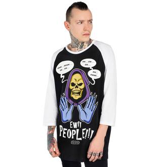 tričko s dlouhým rukávem unisex KILLSTAR - Ew People Raglan - BLACK