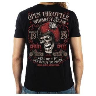 tričko pánské LETHAL THREAT - OPEN THROTTLE - BLACK