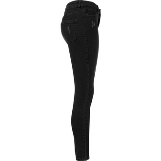 kalhoty dámské URBAN CLASSICS - High Waist - black washed
