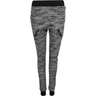 kalhoty dámské (tepláky) URBAN CLASSICS - Fitted Melange - blk/gry