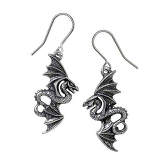 náušnice ALCHEMY GOTHIC - Flight of Airus - Pewter