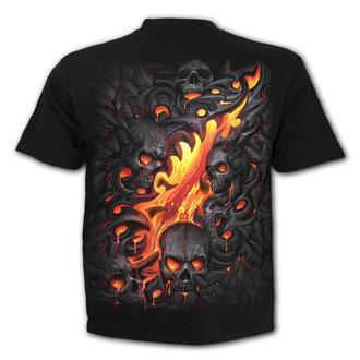 tričko pánské SPIRAL - SKULL LAVA