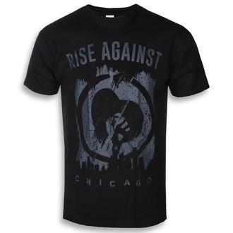 tričko pánské Rise Against - Skyline - Black - KINGS ROAD