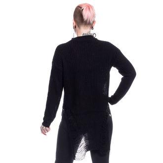 svetr dámský Vixxsin - SLIT NECK DECAY - BLACK