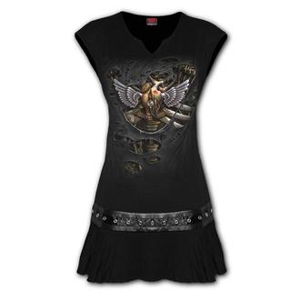 šaty dámské SPIRAL - STEAM PUNK RIPPED - Black
