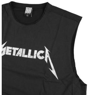 tílko unisex Metallica - White Logo - CHARCOAL - AMPLIFIED
