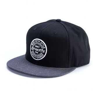 kšiltovka MEATFLY - COMP SNAPBACK C - BLACK/DARK HEATHER, MEATFLY
