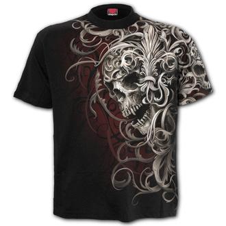 tričko pánské SPIRAL - SKULL SHOULDER WRAP - Black - W033M105