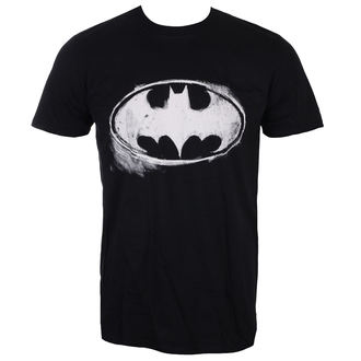 tričko pánské BATMAN - LOGO MONO DISTRESSED - BLACK - LIVE NATION, LIVE NATION, Batman