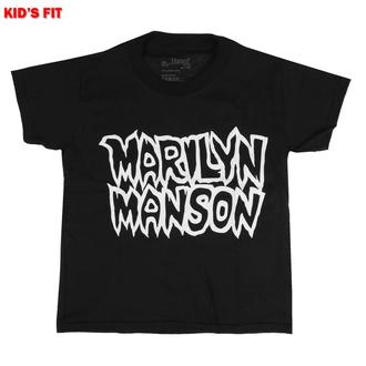 tričko dětské Marilyn Manson - Classic Logo - ROCK OFF, ROCK OFF, Marilyn Manson