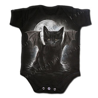 body dětské SPIRAL - Bat Cat - Black - F015K002