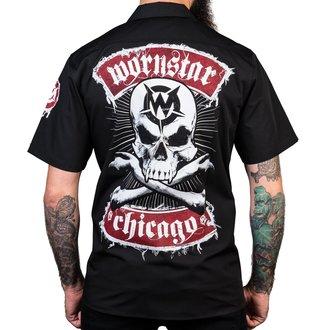 košile pánská WORNSTAR - Chicago Skull - Black, WORNSTAR