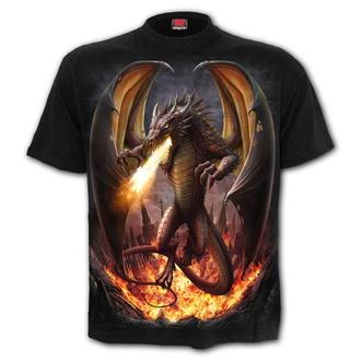 tričko pánské SPIRAL - DRACO UNLEASHED - Black