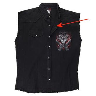 košile pánská bez rukávů SPIRAL - Street Reaper - Black - POŠKOZENÁ, SPIRAL