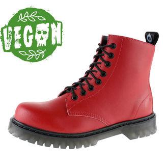 boty dámské 8 dírkové ALTERCORE - Vegetarian - Red, ALTERCORE