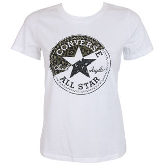 tričko dámské CONVERSE - Spliced Leopard - White, CONVERSE