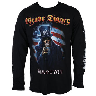 tričko pánské s dlouhým rukávem GRAVE DIGGER - UNCLE SAM 2016 - JSR, Just Say Rock, Grave Digger