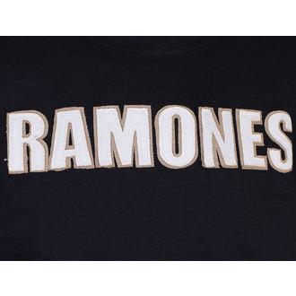 tričko pánské Ramones - Logo & Seal Applique Slub - ROCK OFF, ROCK OFF, Ramones