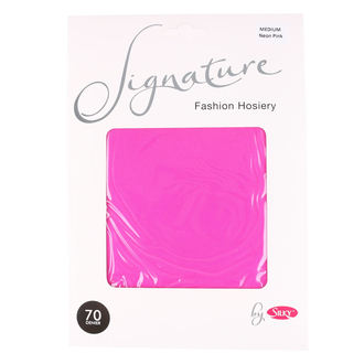punčocháče LEGWEAR - signature 70 denier coloured soft opaque tight - neon pink, LEGWEAR