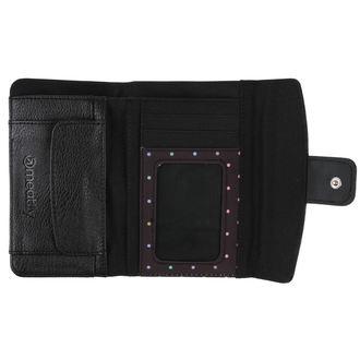 peněženka MEATFLY - Mia Ladies - Black, Black Rainbow Dot, MEATFLY