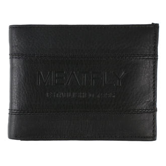 peněženka MEATFLY - Hurricane Leather - Black Leather