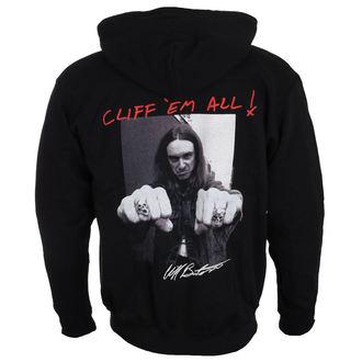mikina pánská Metallica - Cliff Burton - Fists Black, NNM, Metallica