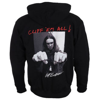 mikina pánská Metallica - Cliff Burton - Fists Black, Metallica