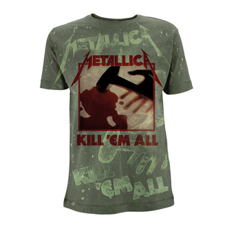 tričko pánské Metallica - Kill 'Em All - Olive Green, Metallica