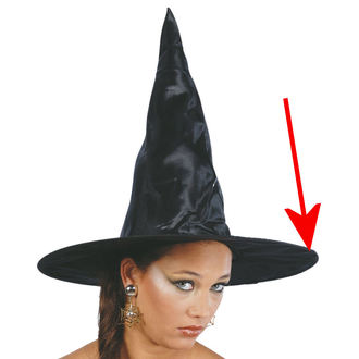 klobouk BLACK WITCH - POŠKOZENÝ