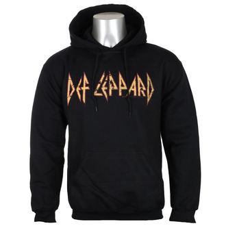 mikina pánská Def Leppard - Distressed Logo - Black - HYBRIS, HYBRIS, Def Leppard
