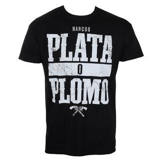 tričko pánské Narcos - Plata o Plomo - Black - HYBRIS - EV-1-NARC006-H60-8-BK