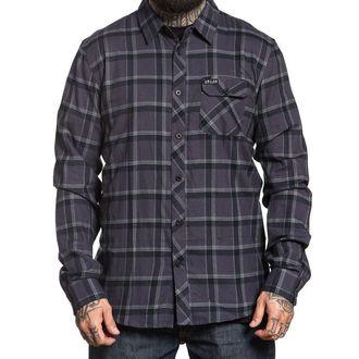 košile pánská SULLEN - GUNMETAL - BLACK/STEEL, SULLEN