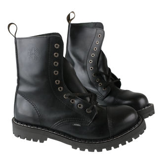 boty STEEL - 10 dírkové černé ( 105/106 Black) - POUŽÍVANÉ, STEEL