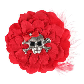sponka do vlasů Skull - Red, NNM