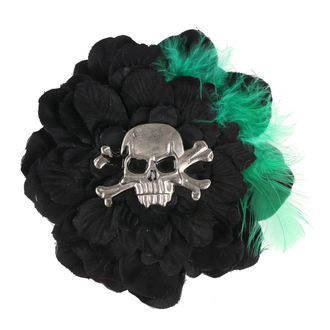 sponka do vlasů Skull - Black/Green, NNM