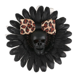 sponka do vlasů Skull - Black/Brown, NNM
