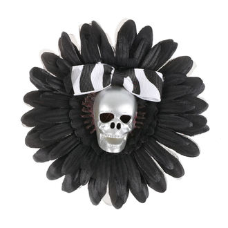 sponka do vlasů Skull - Black/Silver