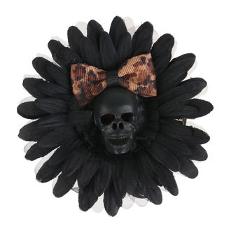 sponka do vlasů Skull - Black/Brown Bow, NNM