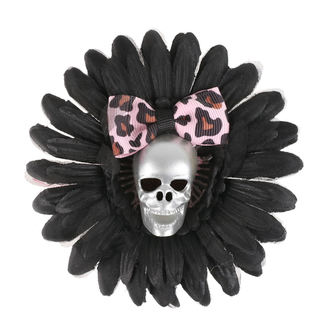 sponka do vlasů Skull - Black/Pink Bow, NNM