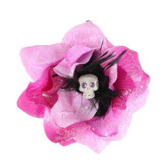 sponka do vlasů Skull - Pink/Black