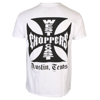 tričko pánské West Coast Choppers - OG CROSS ATX - White, West Coast Choppers
