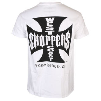tričko pánské West Coast Choppers - OG CROSS - White/black, West Coast Choppers