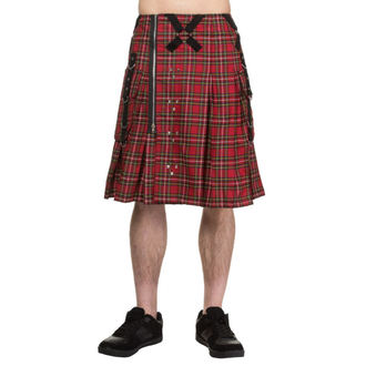 kilt pánský DEAD THREADS - Red Tartan, DEAD THREADS