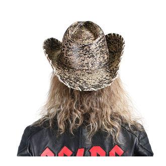 klobouk WORNSTAR - Hellrider HS Black & Natural Rocker Cowboy, WORNSTAR
