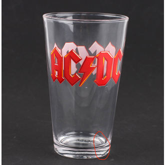 sklenice AC/DC - Logo - PGAC1 - POŠKOZENÁ, AC-DC