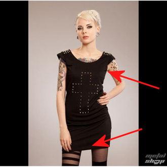 šaty dámské POIZEN INDUSTRIES - Cross Spike - Black - POŠKOZENÉ, POIZEN INDUSTRIES