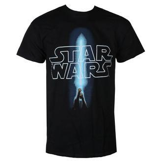 tričko pánské STAR WARS - LOGO & SABER - BLACK - LIVE NATION, LIVE NATION, Star Wars