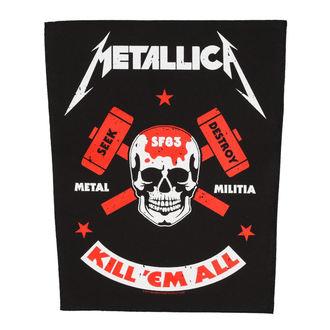 nášivka velká METALLICA - METAL MILITIA - RAZAMATAZ, RAZAMATAZ, Metallica